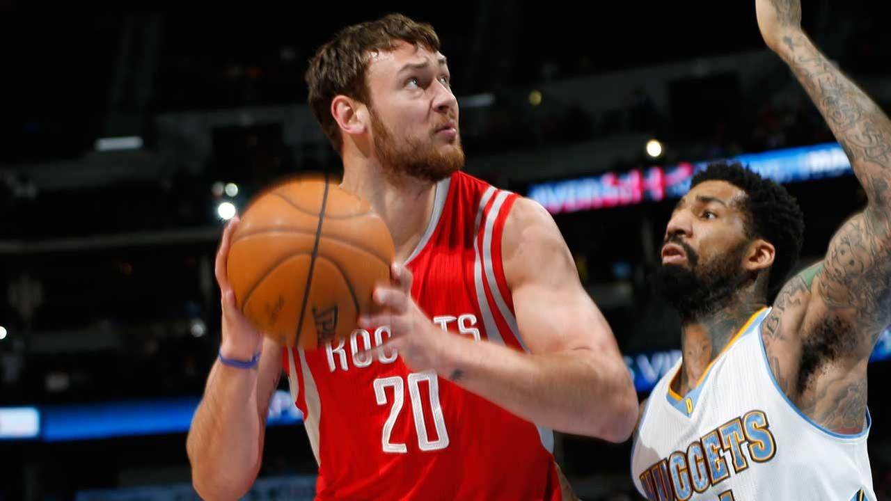 Eyewitness News confirmed Wednesday afternoon that forward Donatas Montiejunas is done for the year with a back injury.