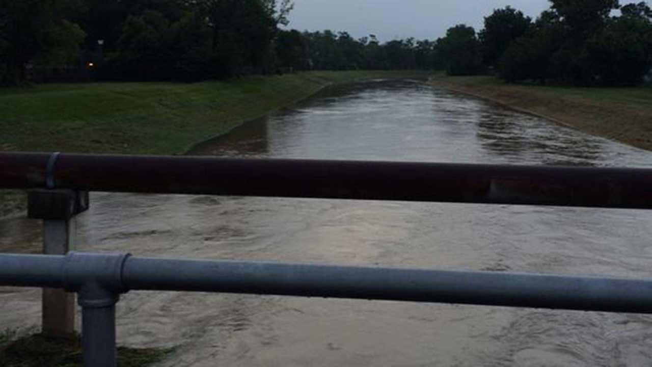 Bayou and creek levels