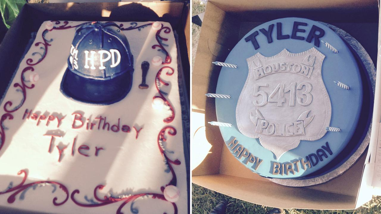 HPD cops throw birthday party for slain officer's 12-year-old son