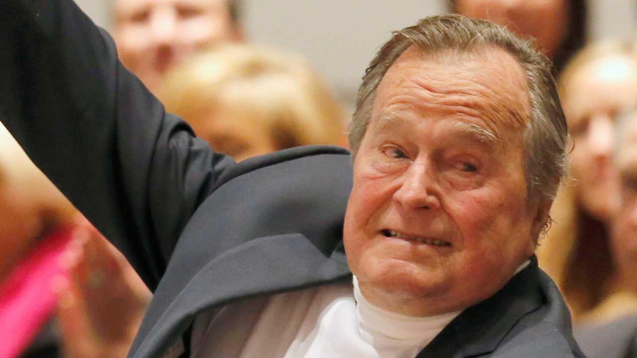 Spokesman: George H.W. Bush breaks bone in neck during fall, will be OK