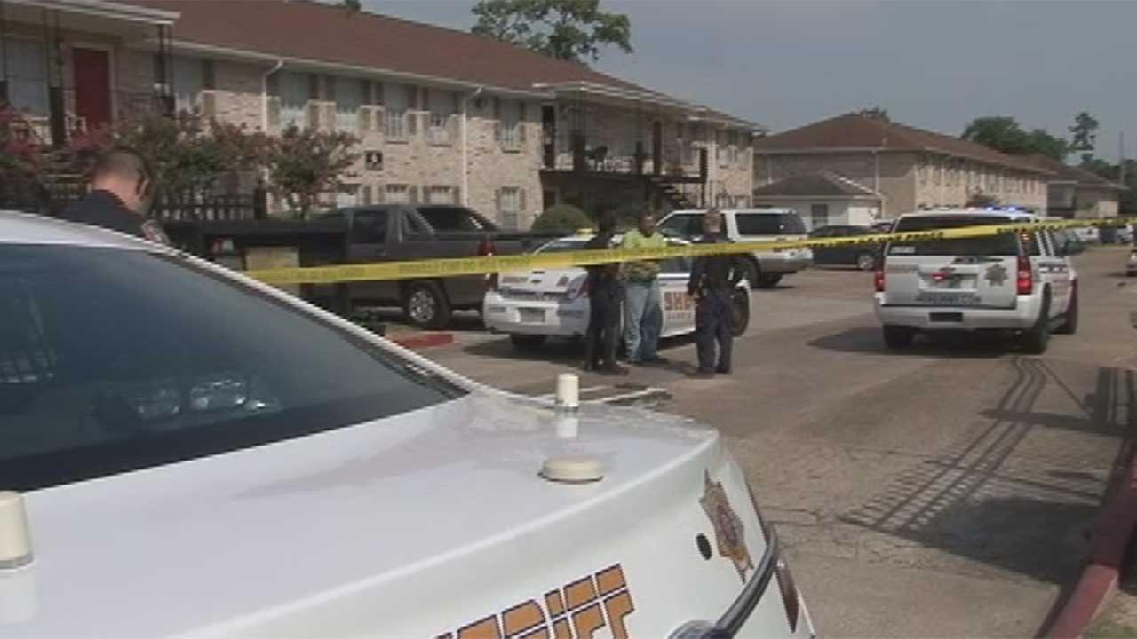 At least one person shot at N. Harris County apartment complex