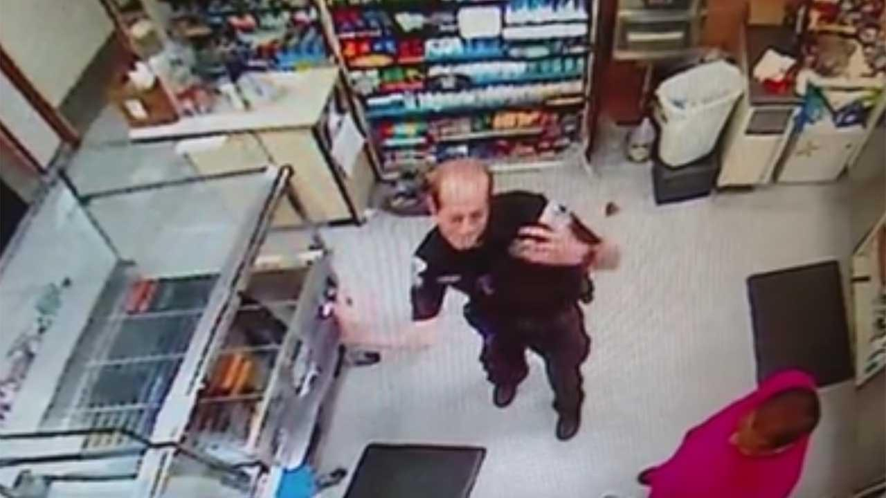 Officer's 'Nae Nae' caught on video; goes viral