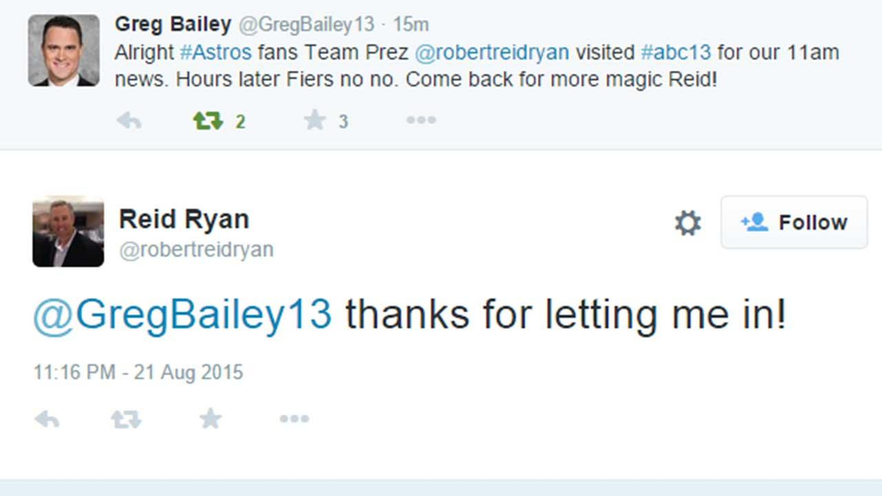 Was Reid Ryan's ABC-13 visit the lucky charm for Fiers?