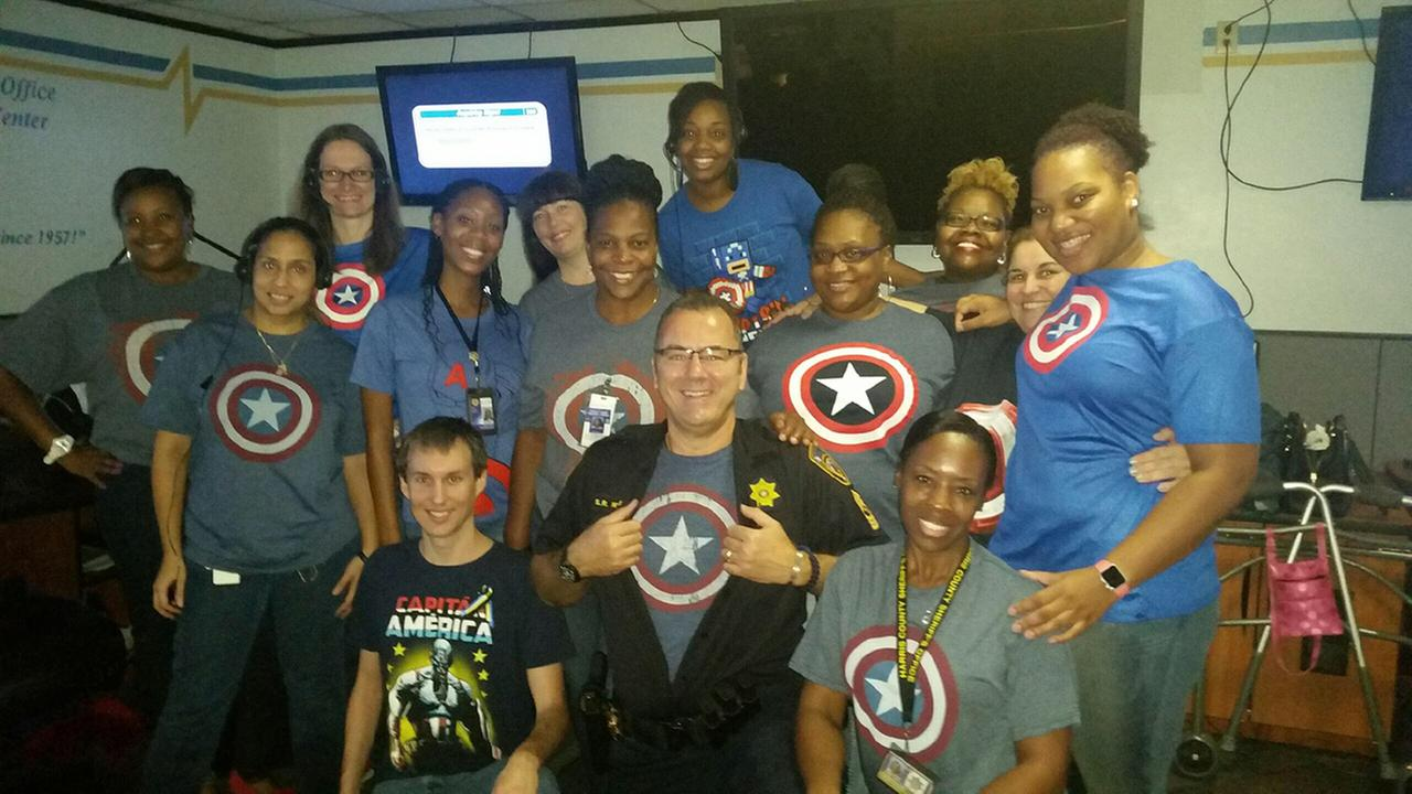 Remembering Dep. Darren Goforth with Captain America shirts