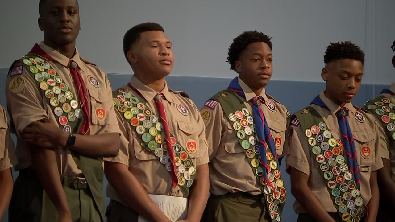 Over the weekend, one Houston based troop recognized the twelve members who earned the title of eagle scout.