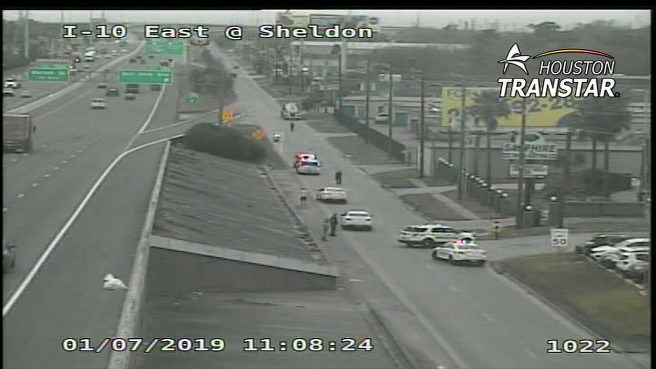 The victim died at the scene, according to the Harris County Sheriff.