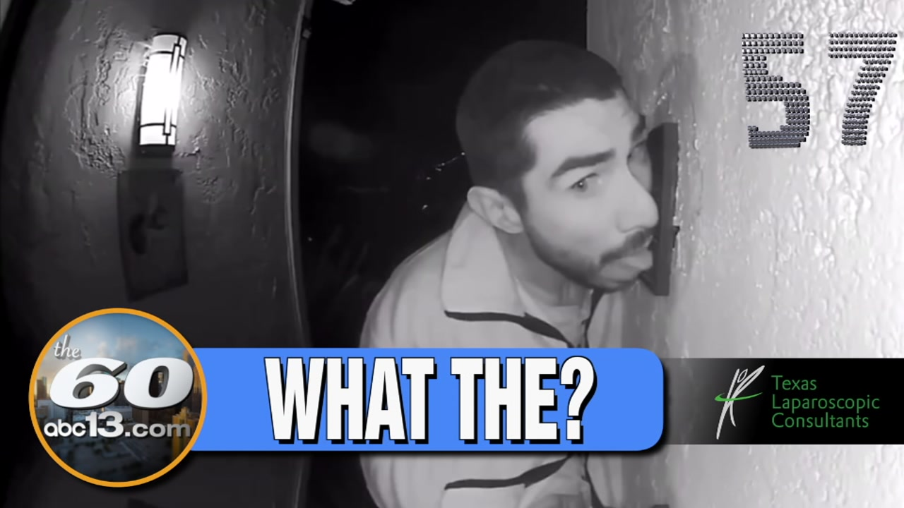 JUST. GROSS. A California familys camera caught a stranger licking their doorbell - for hours.
