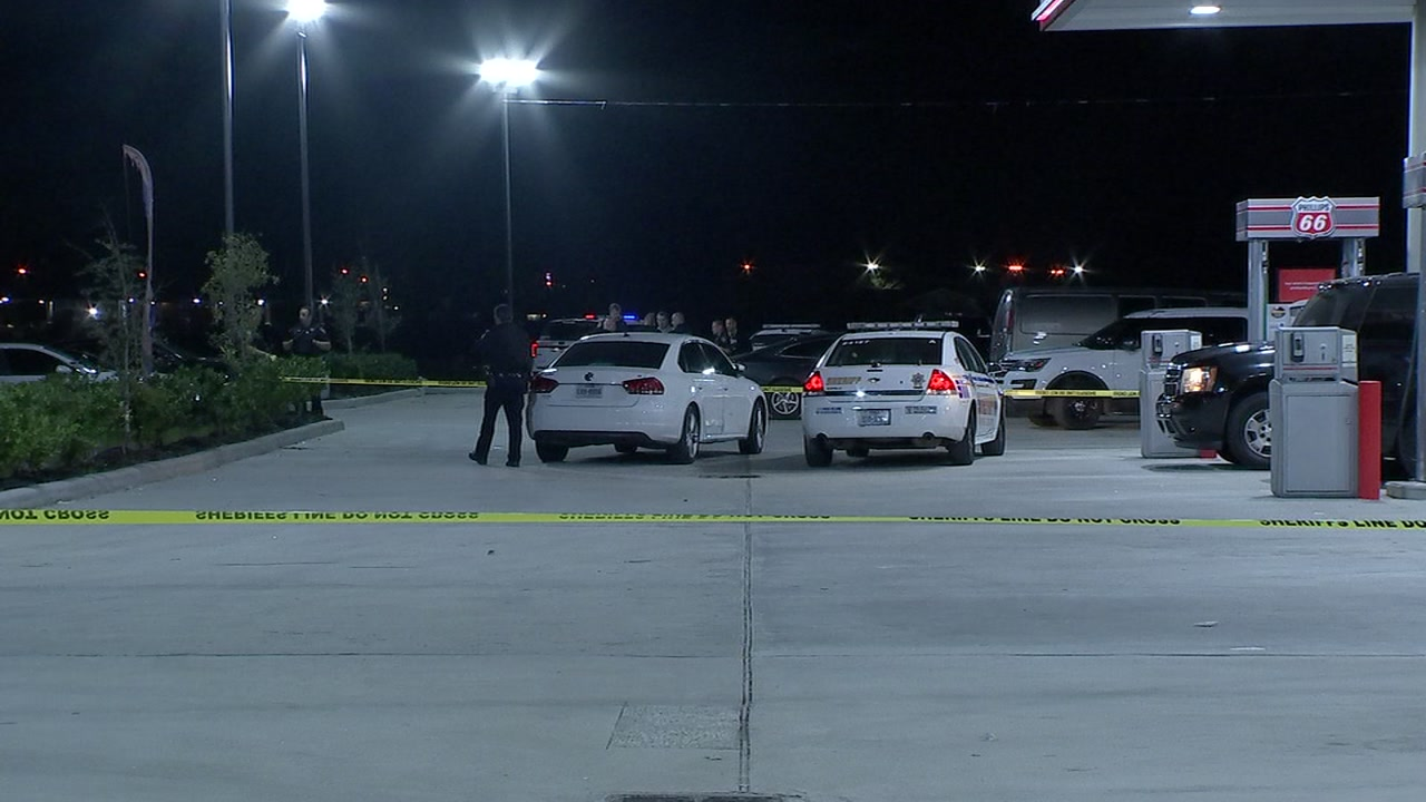 Authorities are searching for a carjacking suspect who they say shot at a deputy.