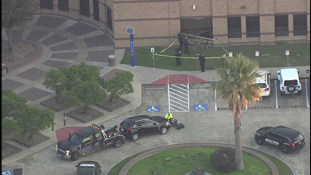 An SUV slammed into Langham Creek High School