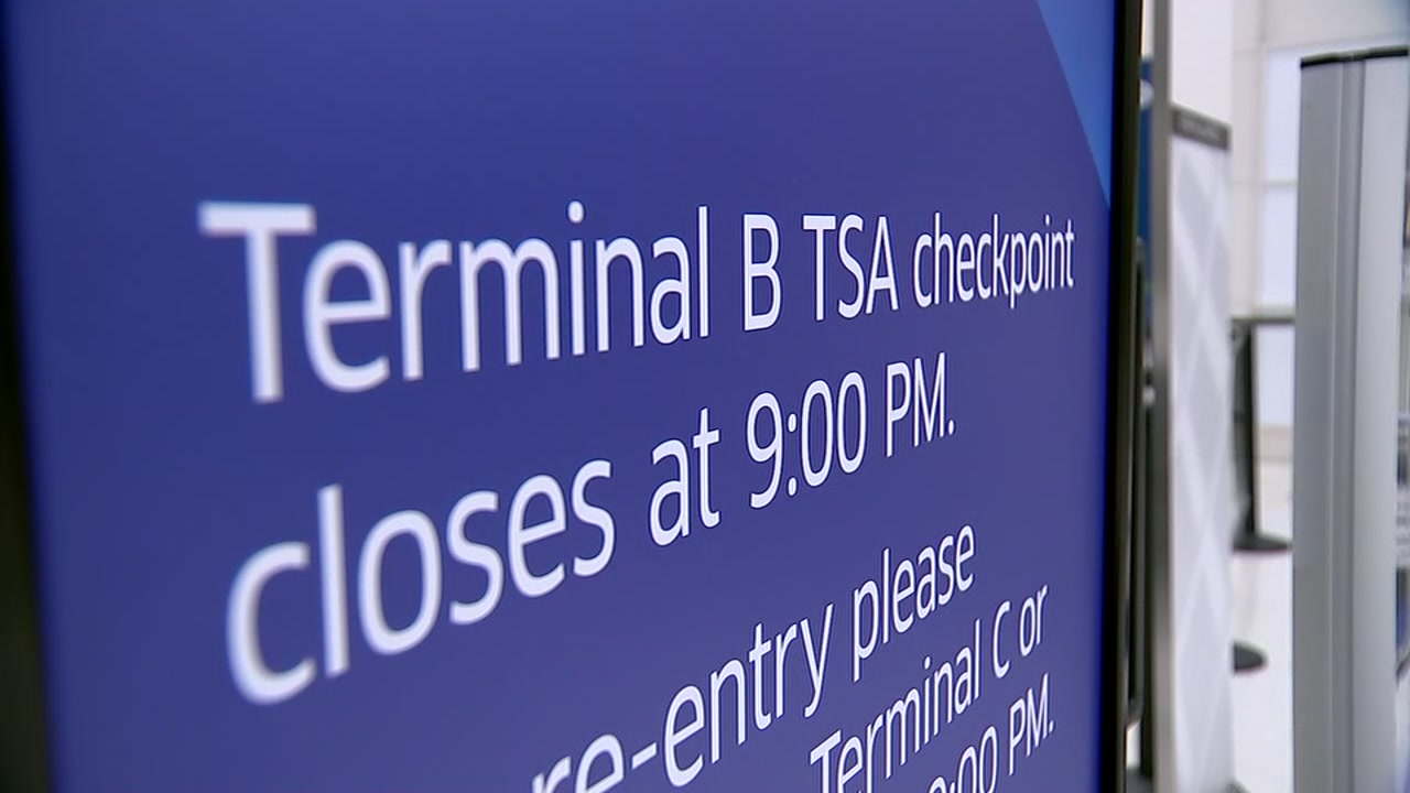 The Terminal B checkpoint at IAH is officially closed again.
