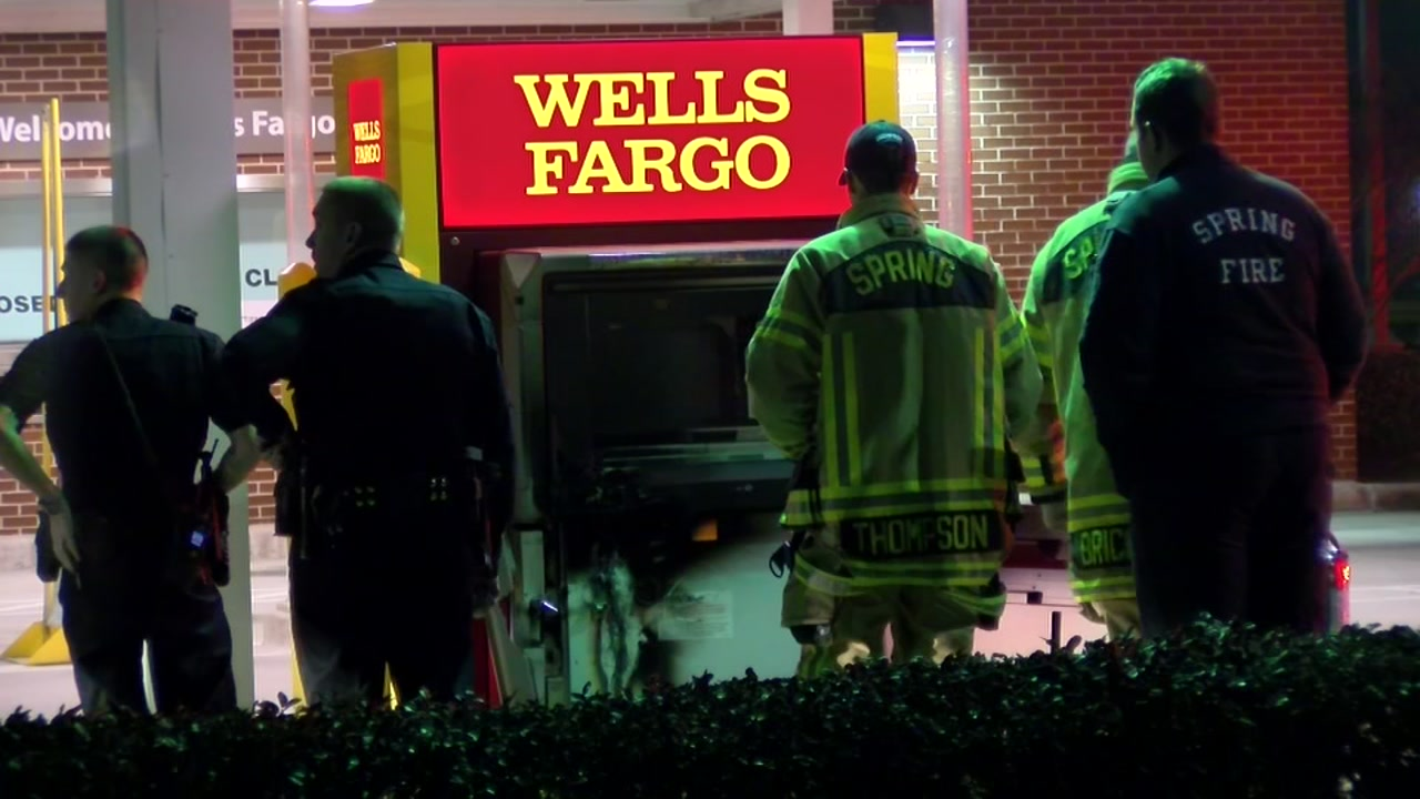 Deputies find Wells Fargo ATM was on fire during attempted robbery.