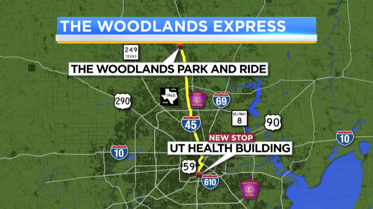 If you commute from the Woodlands, its now even easier to use the Woodlands Express Park and Ride shuttle.