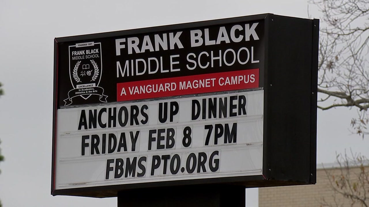 The Houston Independent School District police increased patrols around Frank Black Middle School.