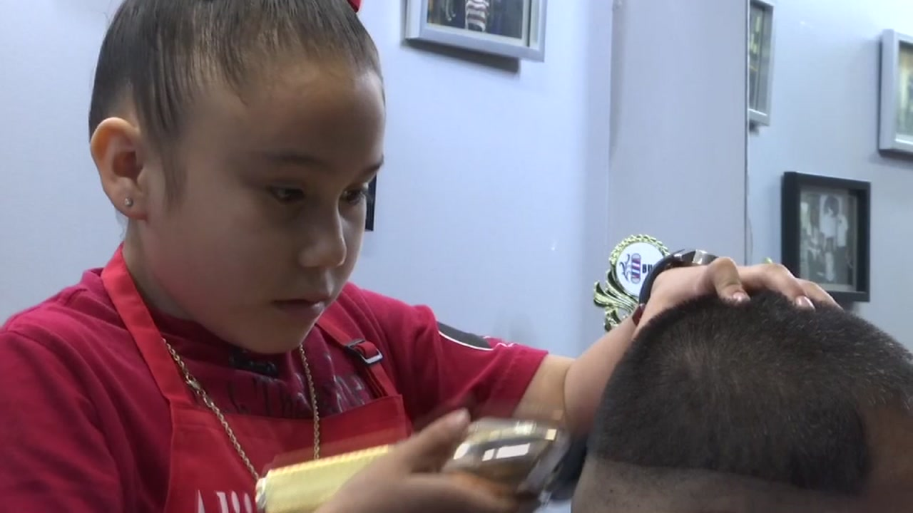 7-year-old turning heads as accomplished barber in N. Houston