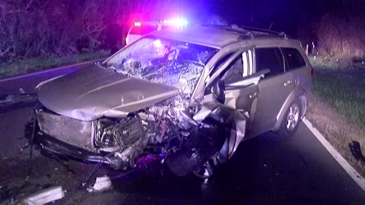 A mother and baby had to be cut out of a car after a crash in Montgomery County sent six people to the hospital.