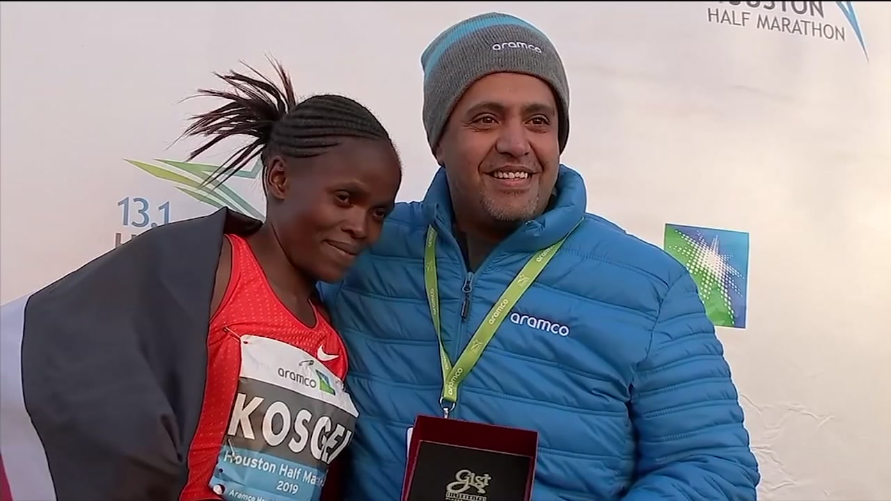 Brigid Kosegei sets fastest half marathon finish time on U.S. soil
