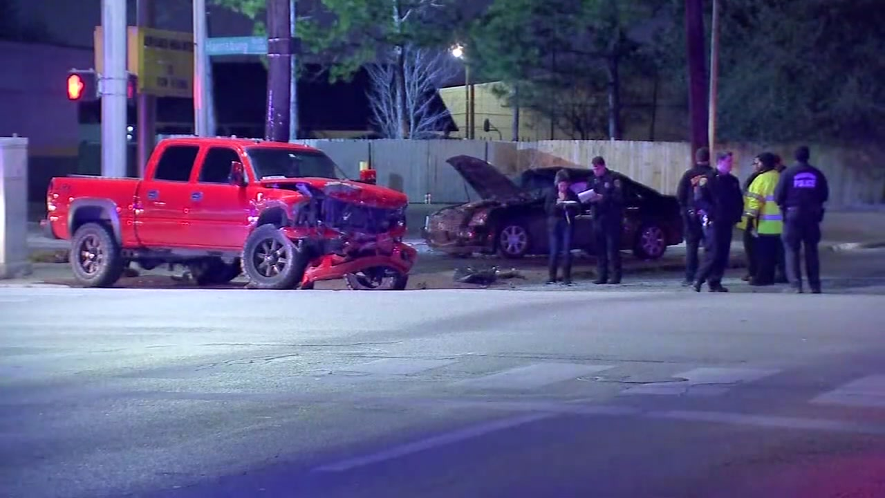 A 5-year-old child is in critical condition after a car crash occurred in Houstons East End, driver charged with intoxicated assault.