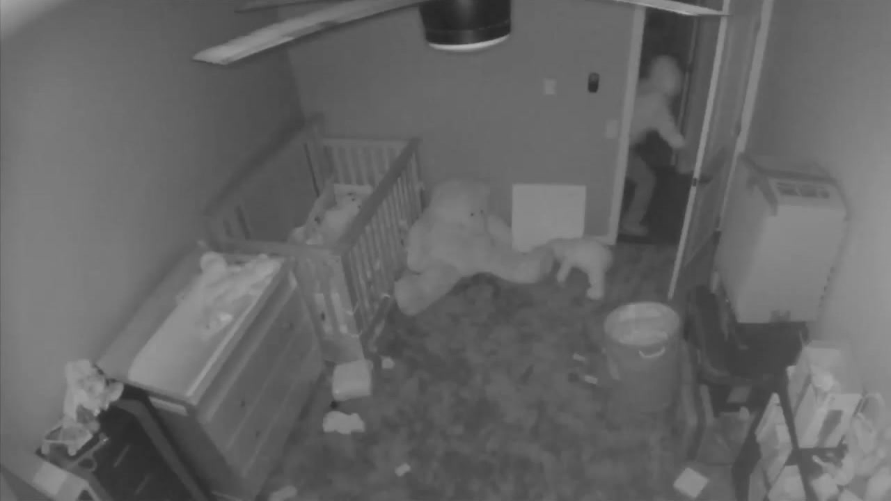 A military family is reeling after seeing video of a burglar close the door of their daughters room while they were out of town.