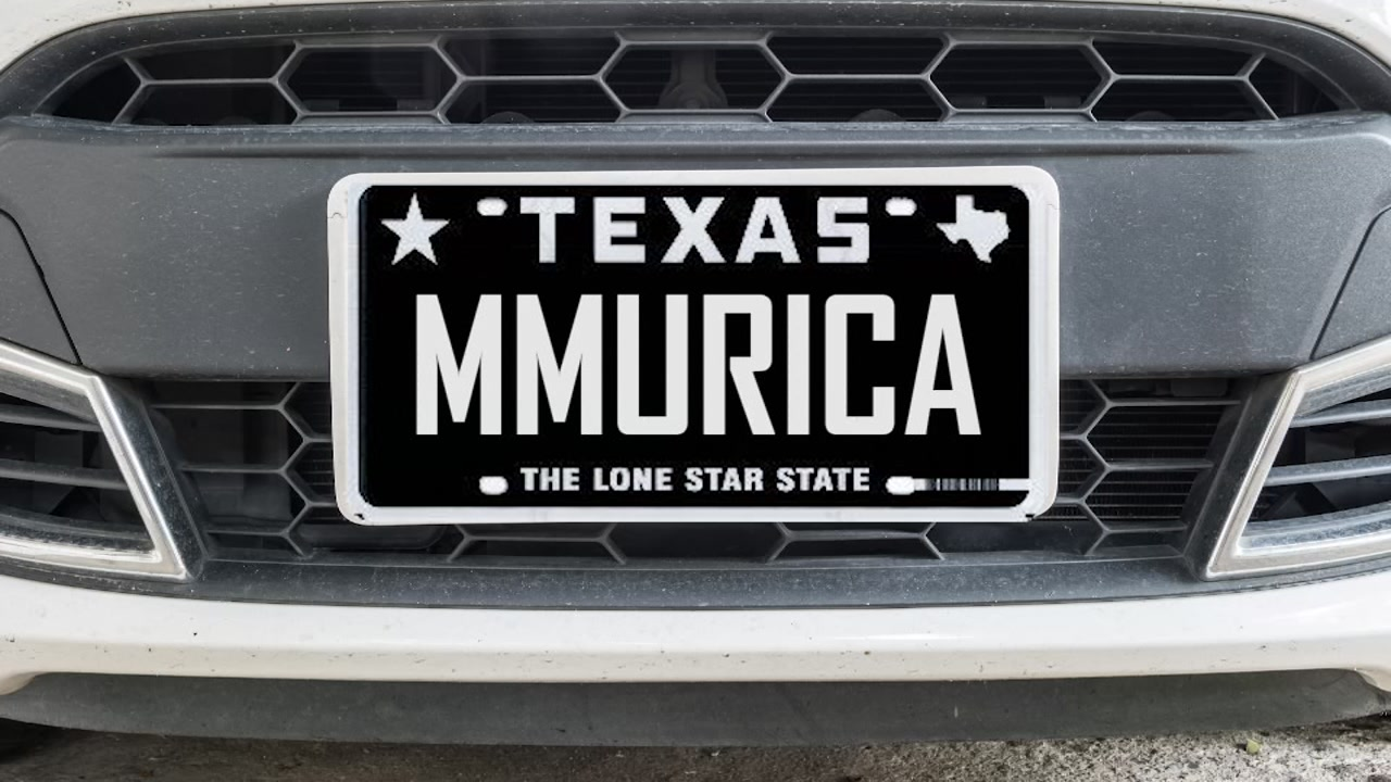 Best personalized plates in Texas 2018
