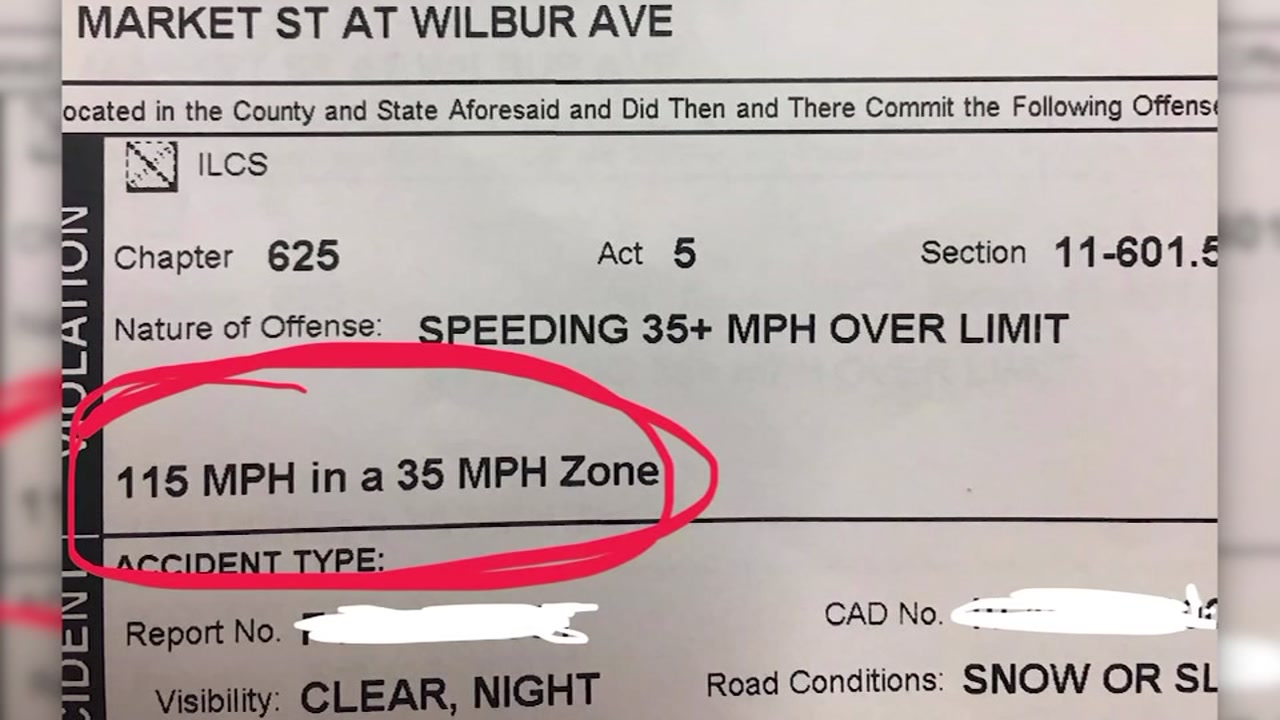 Woman arrested for driving 115 mph in 35-mph zone