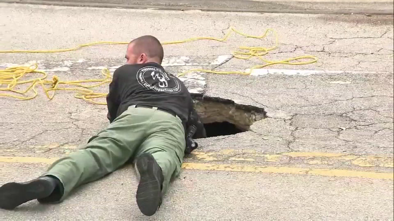 The FBI is investigating after an underground tunnel was discovered leading to a bank near a South Florida shopping center.