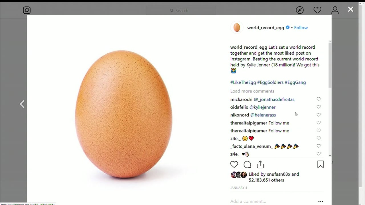 During the Super Bowl, it was revealed that the egg is promoting mental health awareness.