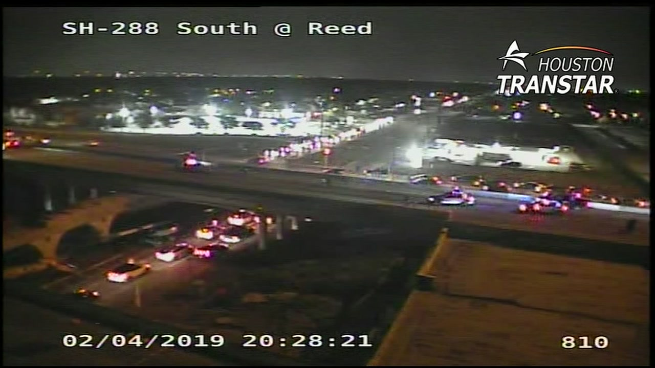 A reportedly armed and suicidal man has been injured on Highway 288, Houston police say.