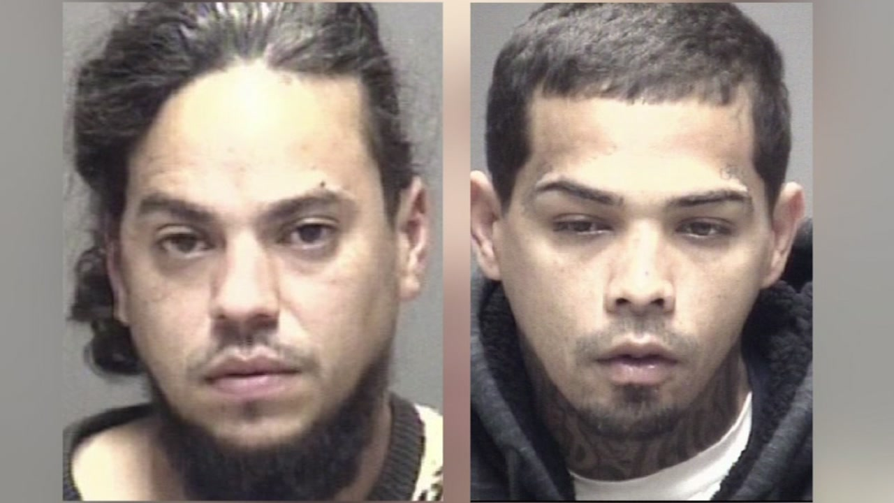 Two men arrested in Texas City, accused of robbing couple with machete.