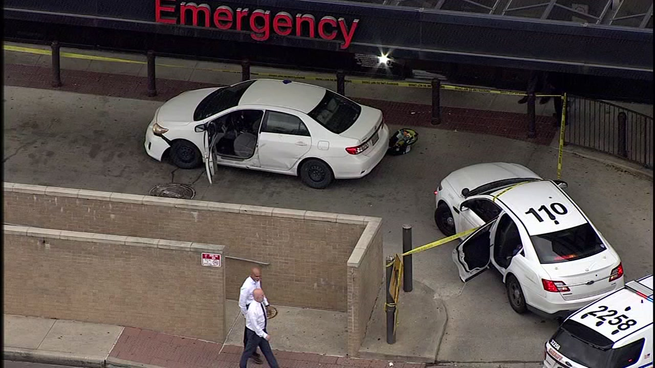 A man was shot in the head while inside of a car with three children in northwest Harris County.
