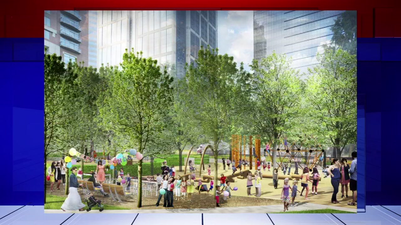 Discovery Green is making changes in anticipation of the construction of two new playground areas.