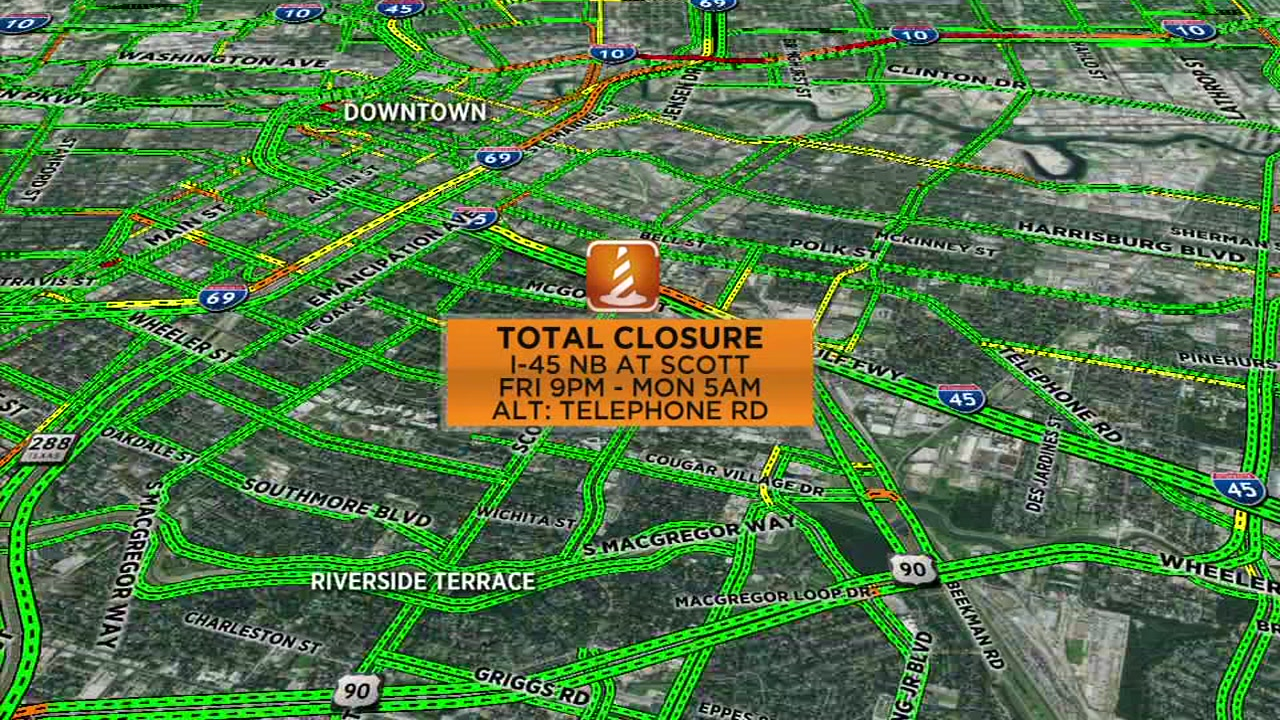 Plan ahead for closures on 610, Gulf Freeway and I-10 this weekend