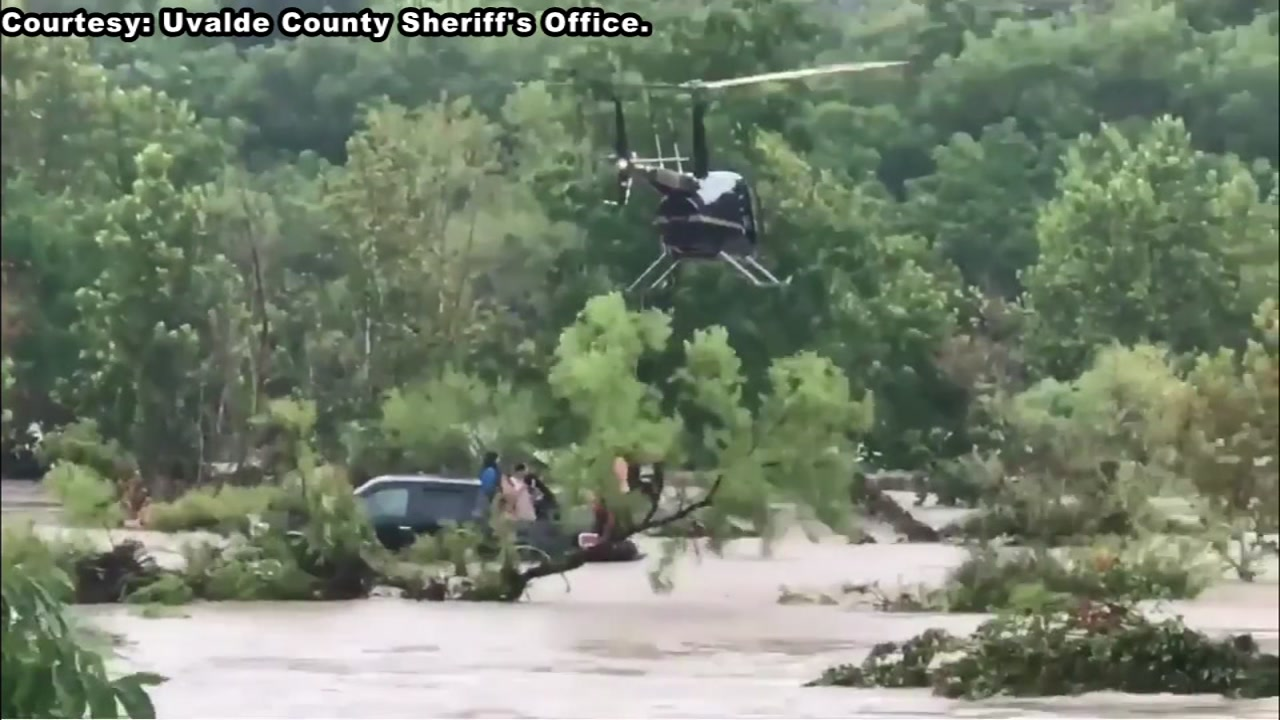 At least 27 people have been rescued from the dangerous high floodwaters in Uvalde County.