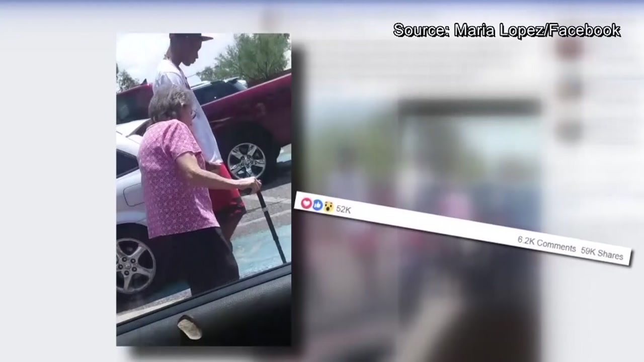 Teen seen helping elderly woman to her car