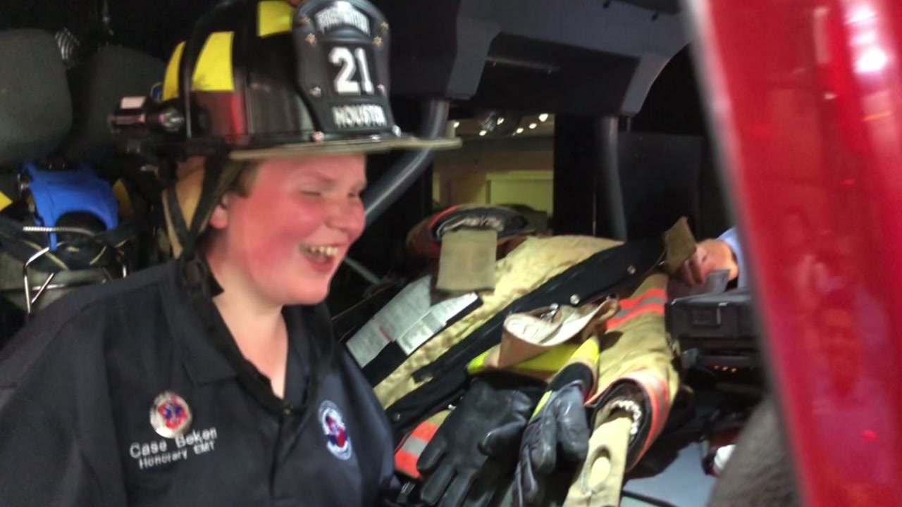 Firefighters make terminal teen an honorary member