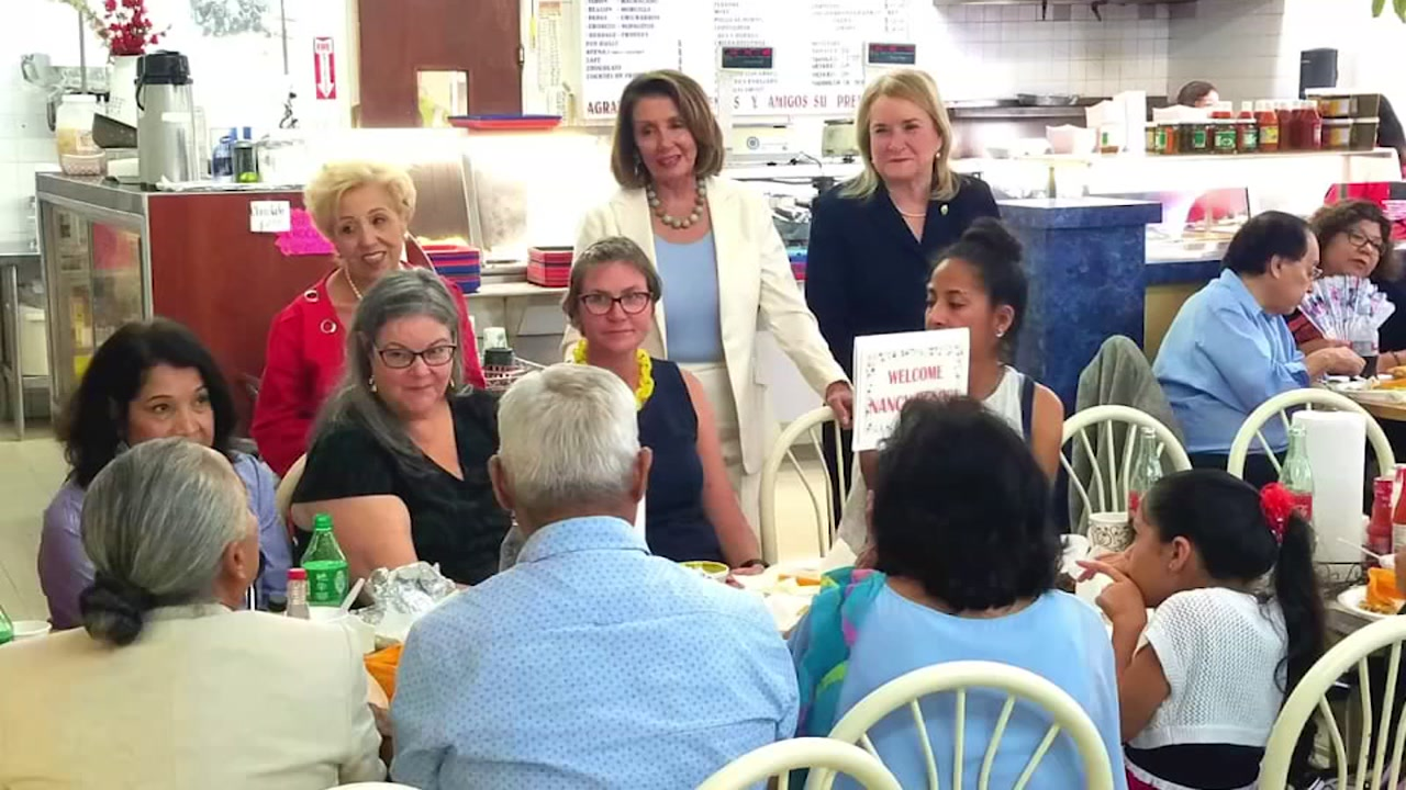 Democratic leader Nancy Pelosi visits local Mexican restaurant