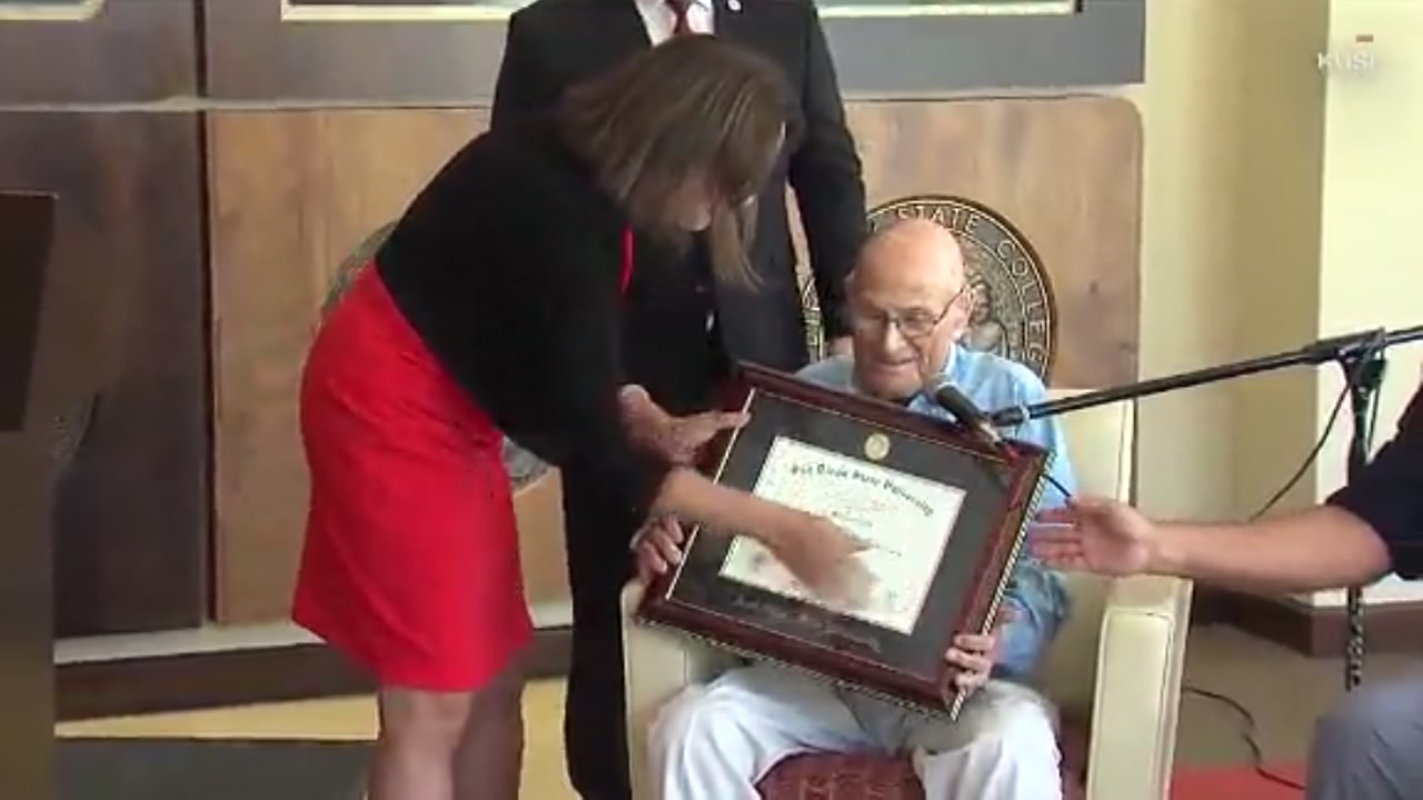 A man who graduated 83 years ago finally gets his long-overdue diploma!