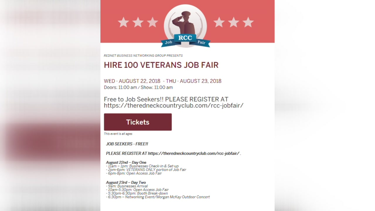 The Redneck Country Club hosts 2-day Hire Veterans Job Fair
