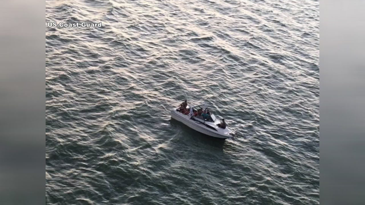 Coast Guard rescues adults and children from disabled boat near Texas City
