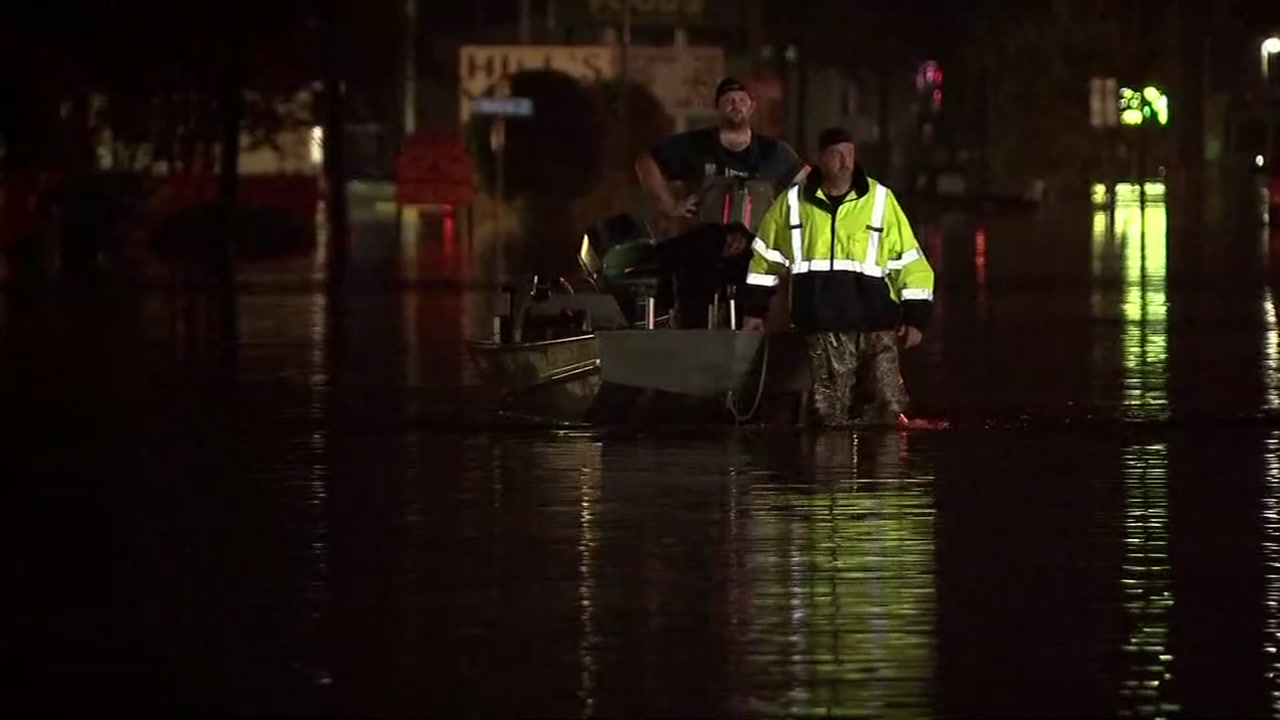 ABC13s Nick Natario speaks to a member of the Cajun Navy as the group seeks donations a year after Harvey.