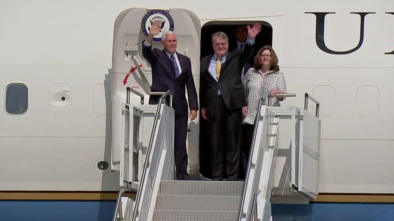 Vice President Pence in Houston for Hurricane Harvey anniversary