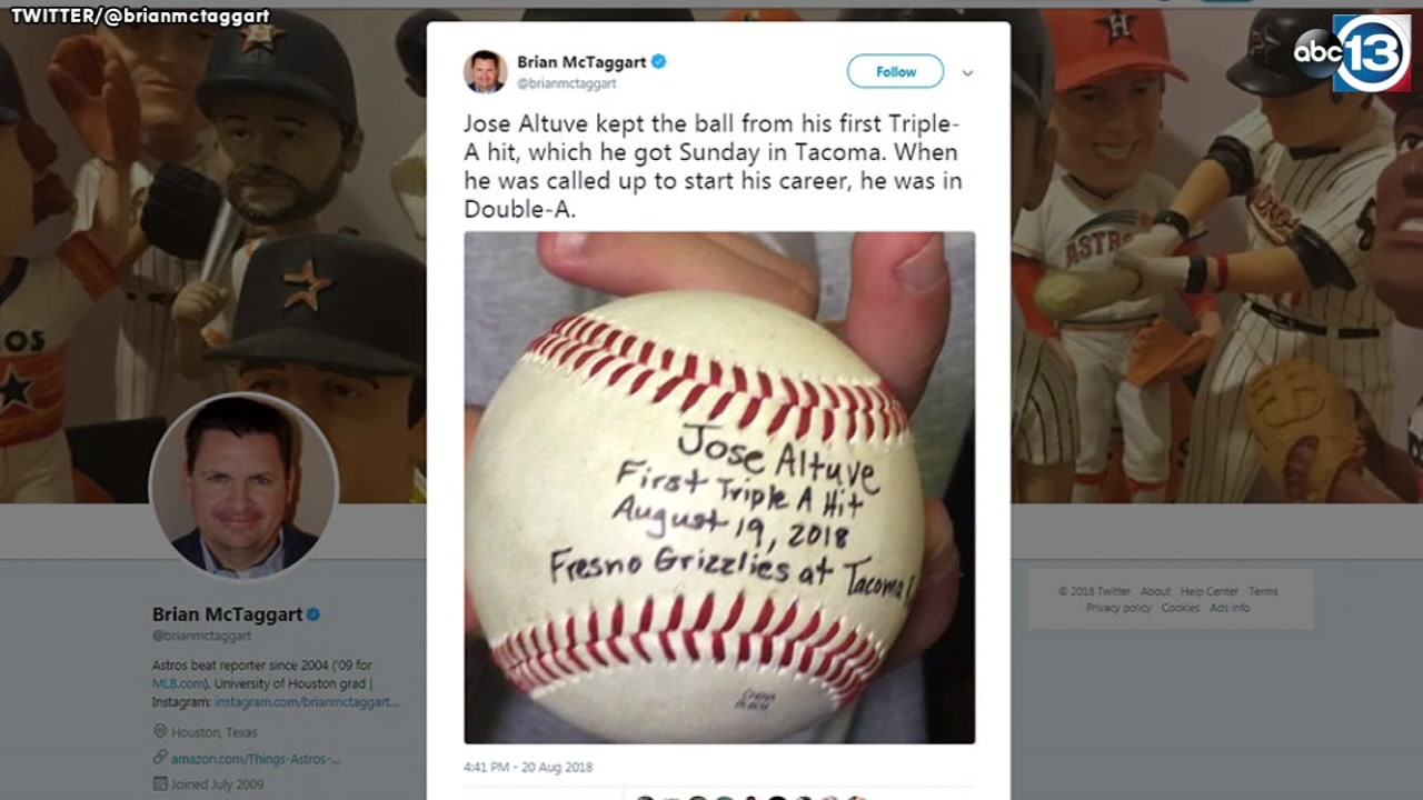 Jose Altuve keeps ball from his first career Triple-A hit