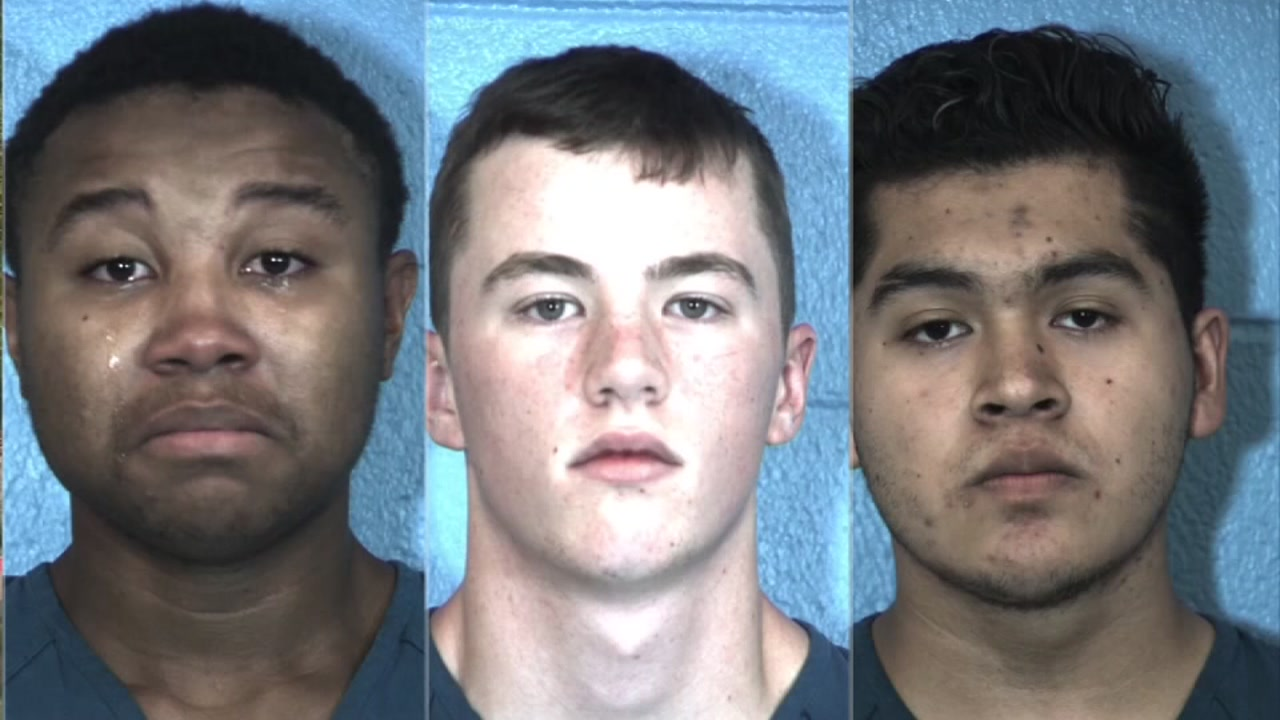 Three students accused of plotting to bring guns and bombs to school were arrested and are facing charges.