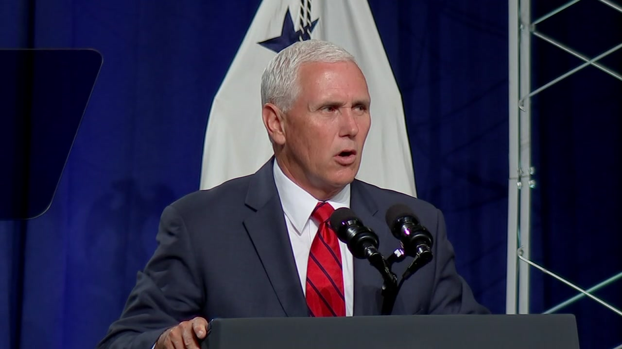 Vice President Mike Pence at NASA Thursday