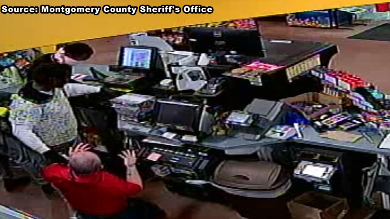 Authorities are investigating a case of linked robberies in Montgomery County and Houston.