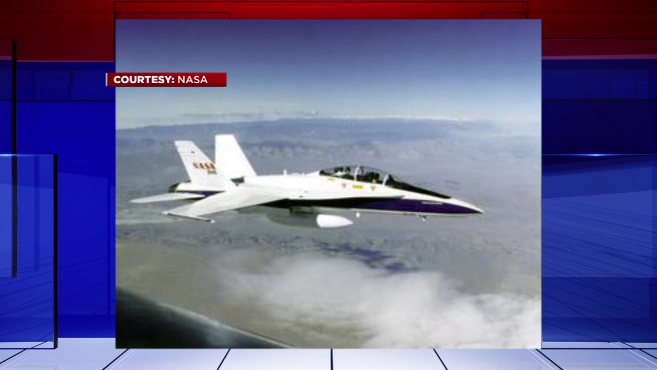 The planes you saw in Houston skies today, were NASA and its pilots taking part in training.