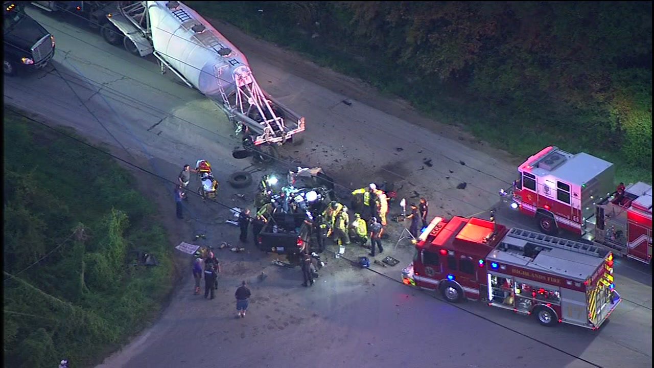 18-wheeler involved in crash with truck in Crosby