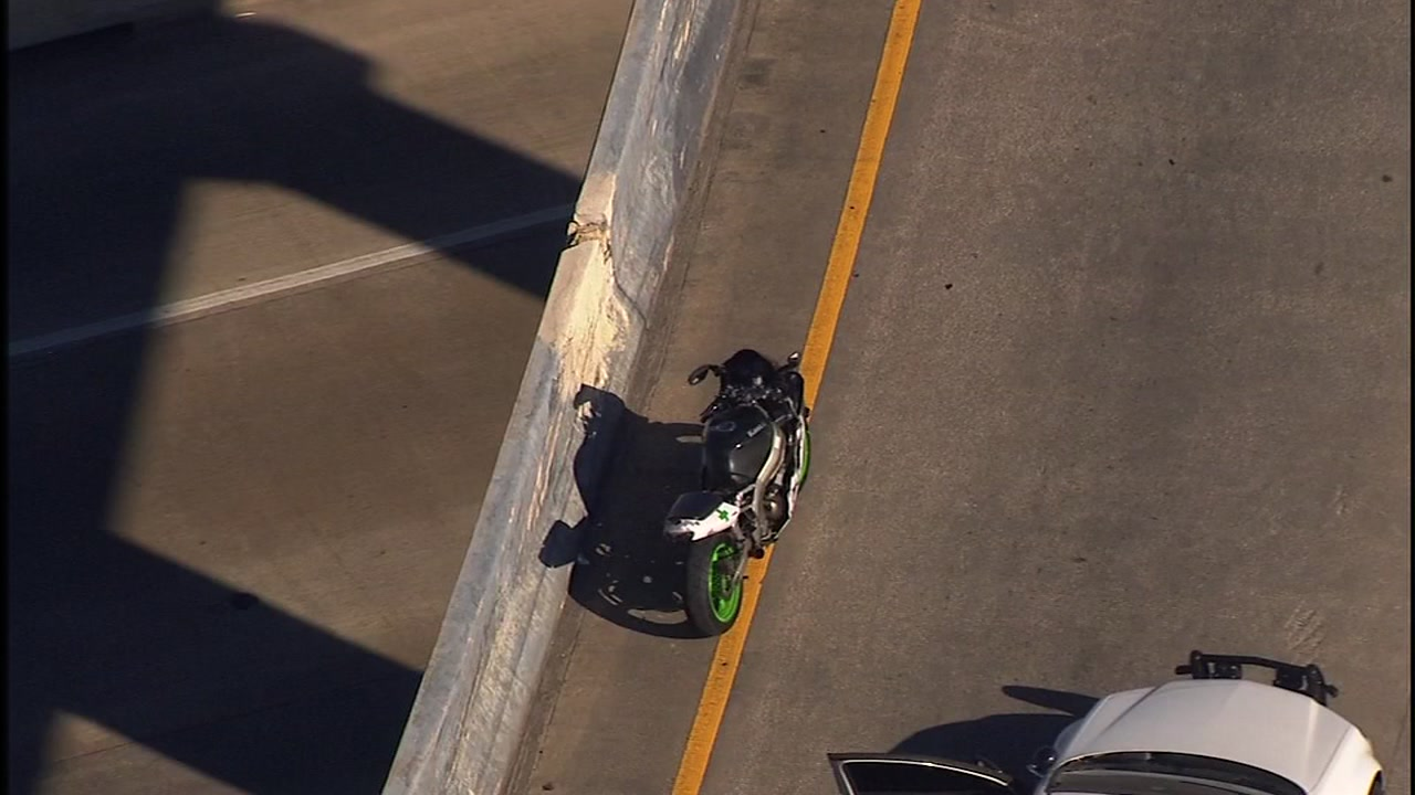 A man was thrown off his bike and killed during a chase, police say.