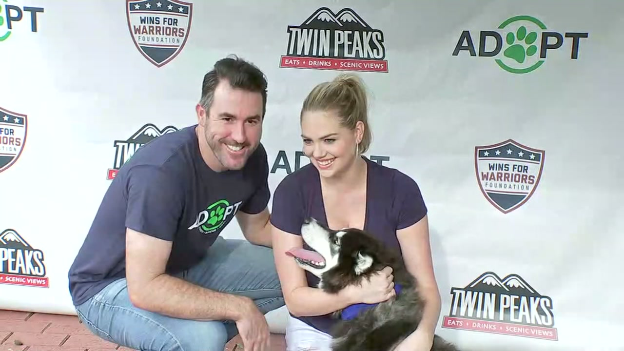 Kate Upton and Justin Verlander raise awareness about local animal shelters with 4th Annual Grand Slam Pet Adoption Event.