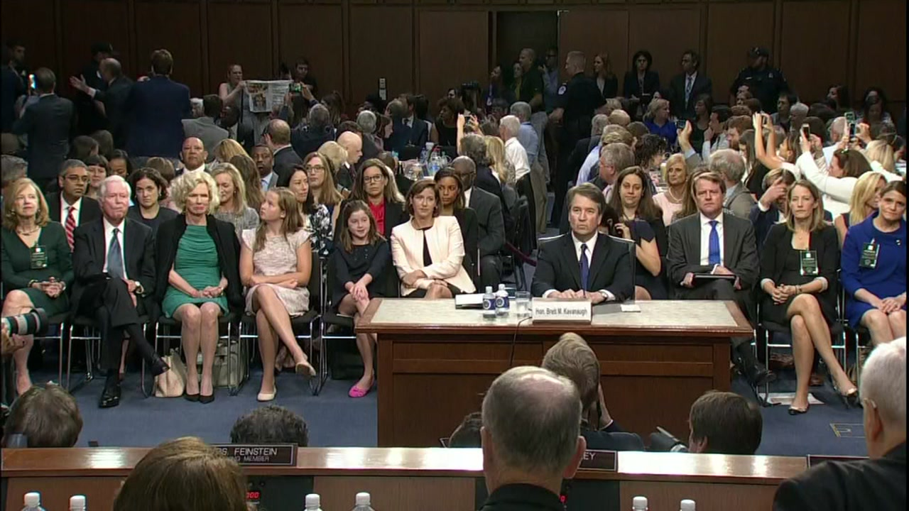 Outburst interrupts Kavanaugh hearing