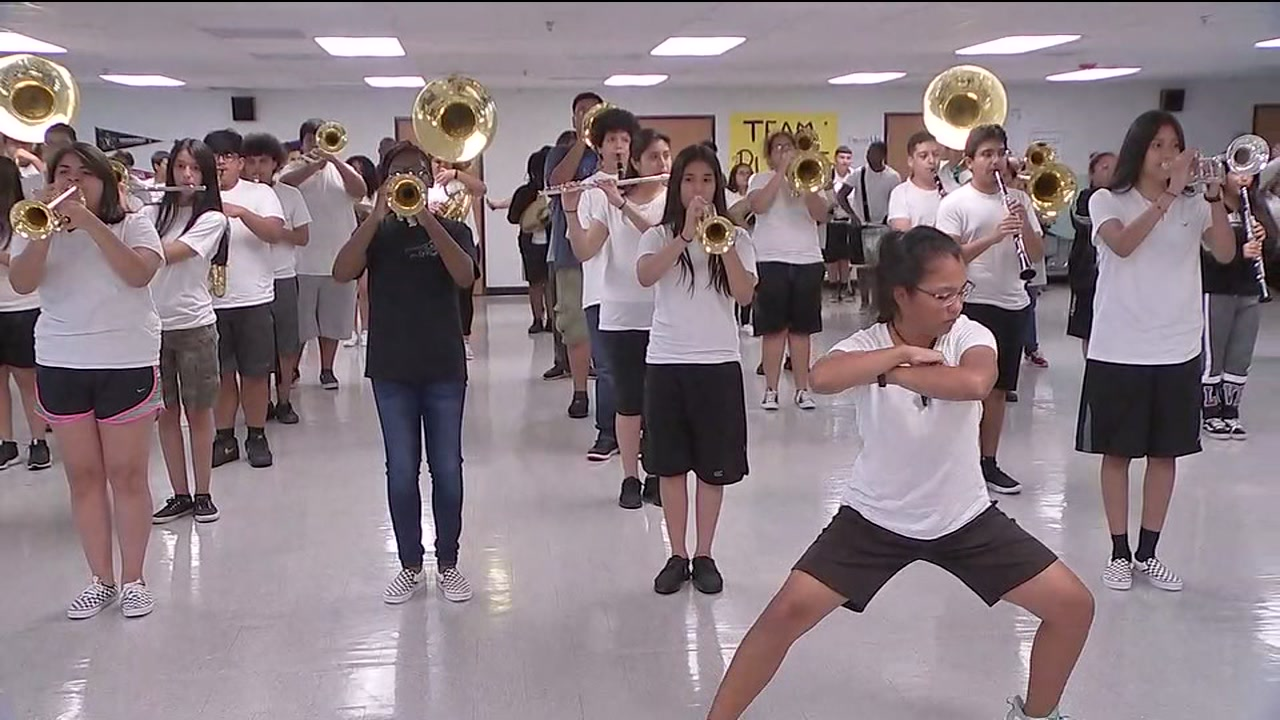 Stephen F. Austin HS band surprised after losing instruments